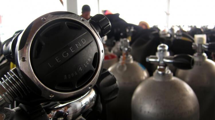 Regulator Scuba Diving Phi Phi Best Day Trips Liveaboard PADI