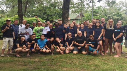 PADI Instructor Examination Aussie Divers Phuket Darren Gaspari Christophe Pace