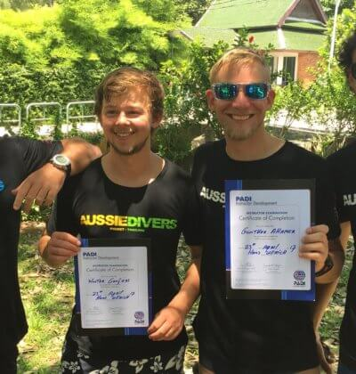 Aussie Divers Padi IDC Phuket Best Instructors