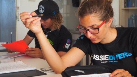 IDC Study Aussie Divers Phuket PADI Instructor
