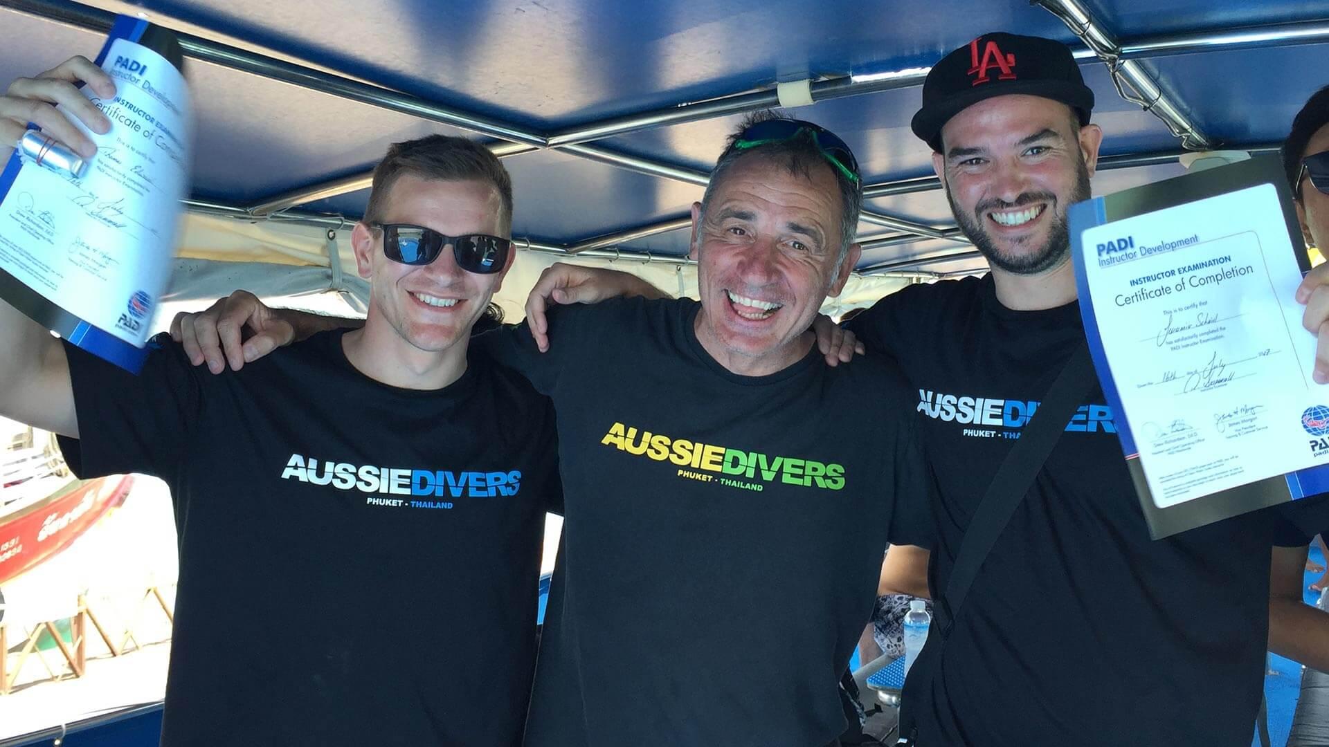 Aussie Divers IDC Phuket Team