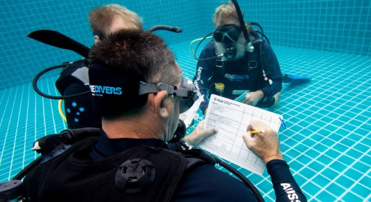 PADI IDC Confined Water Assessment