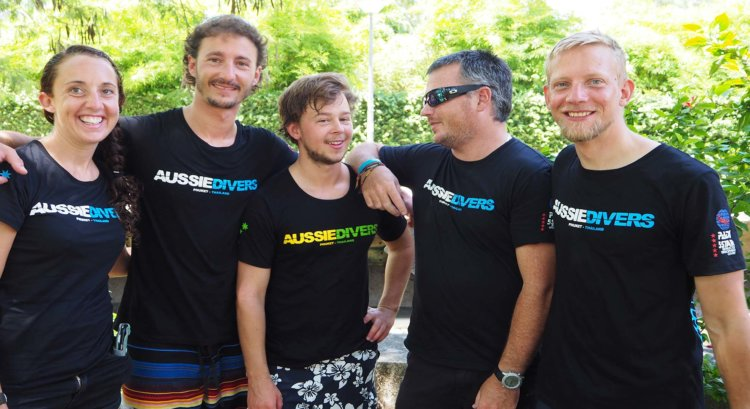 Brand New Instructors PAD IDC Aussie Divers Phuket