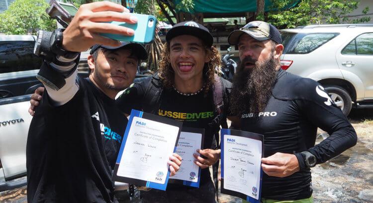 Happy New Instructors Aussie Divers IDC