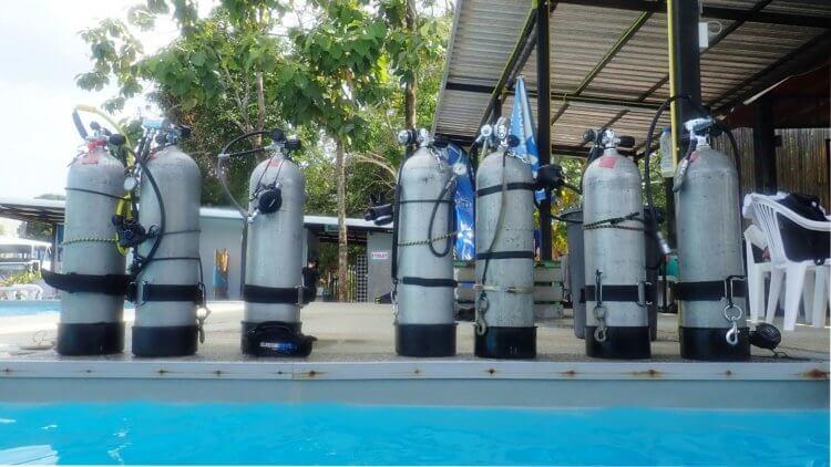 PADI Sidemount Pool Aussie Divers Phuket